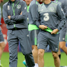 On the sidelines: Republic skipper Robbie Keane may still travel to the Euros with Martin O'Neill's side if he doesn't make the squad