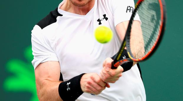 Bowing out: Andy Murray on his way to defeat in Miami