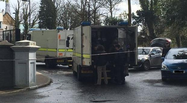 Police are currently at the scene. Pic: BBC