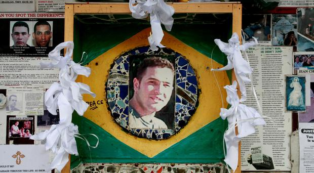 File photo dated 02/08/07 of a memorial to Jean Charles de Menezes outside Stockwell Tube station in London, as his family have lost a human rights challenge over the decision not to charge any individual police officer over his death. PA