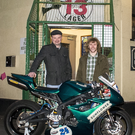 Support: owner of the Sunflower, Pedro Donald, is backing Irish Supersport ace Michael Rea