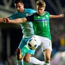 Unbeatable character: Jamie Ward believes the spirit within the Northern Ireland squad can be put to good effect in France