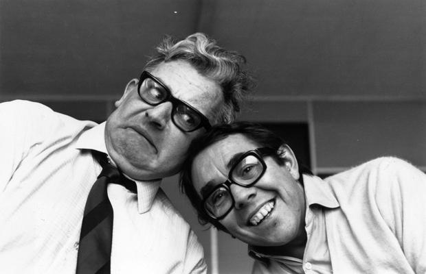 Television comedy duo The Two Ronnies, Ronnie Barker (left) and Ronnie Corbett. (Photo by David Cairns/Getty Images)