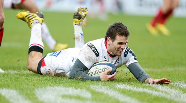 Back in white: Jared Payne will start for Ulster against Connacht, his first appearance for the province since January
