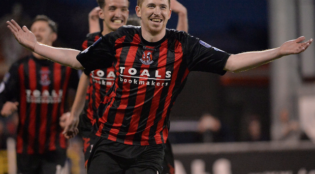 Bit of previous: Billy Joe Burns won three league and Irish Cup doubles at Linfield and wants to do the same with Crusaders