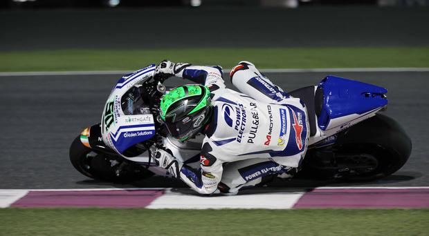 Eugene Laverty, from Toombridge, in practice for the Argentina MotoGP round this weekend on board his Aspar Ducati