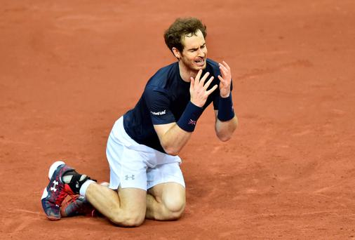 Sleepless nights: Andy Murray has been getting used to the pain of defeat since becoming a father