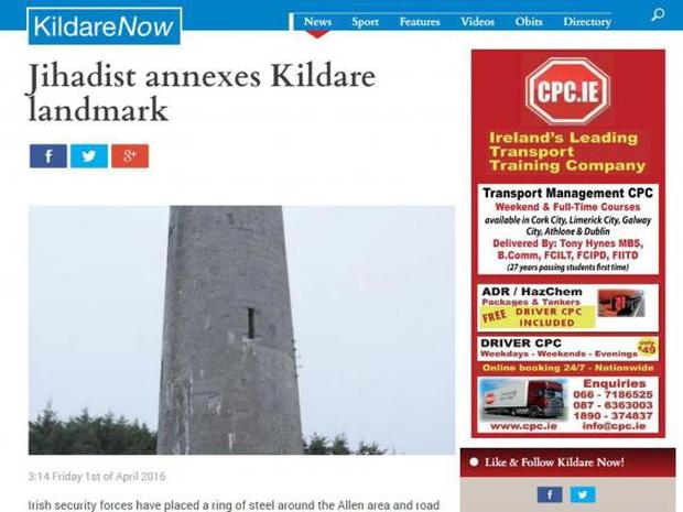 Kildare Now's April Fools' Day story (Kildare Now)