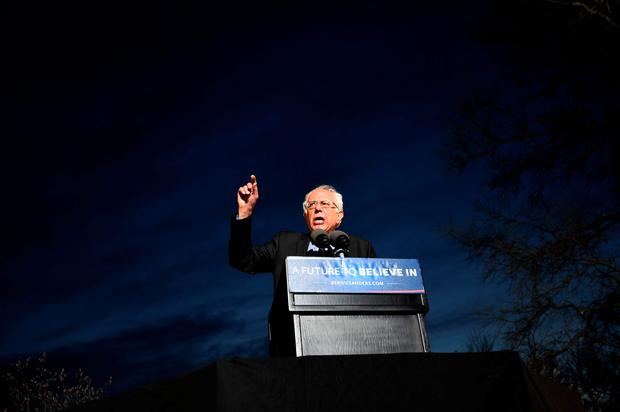 US Democratic presidential candidate Bernie Sanders addresses a campaign rally at the Saint Mary's Park in Bronx, New York,on March 31, 2016. AFP/Getty Images