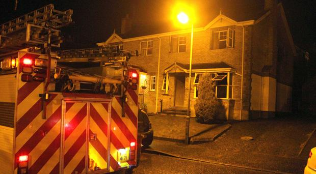 The scene of a house fire in Downpatrick. Picture Matt Bohill.PACEMAKER BELFAST