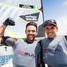 Making waves: Matt McGovern and Ryan Seaton clinched gold in the 49er skiff event at the Princess Sofia Regatta in Palma