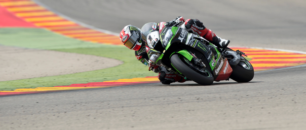 Top dog: Jonathan Rea still leads the World Superbike Championship after two podium finishes