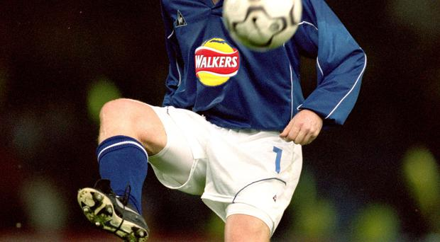 Familiar face: Neil Lennon, pictured during his playing days at Leicester City, says his former side are writing a glorious story