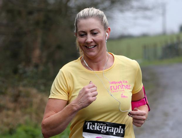 Belfast Telegraph Runher 5 &10K at Delamont Country Park. Photograph by Declan Roughan