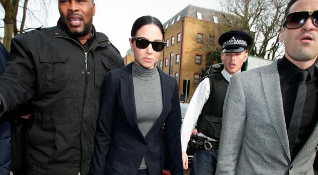 Tulisa Contostavlos arriving at Highbury Corner Magistrates' Court in London. Yui Mok/PA Wire