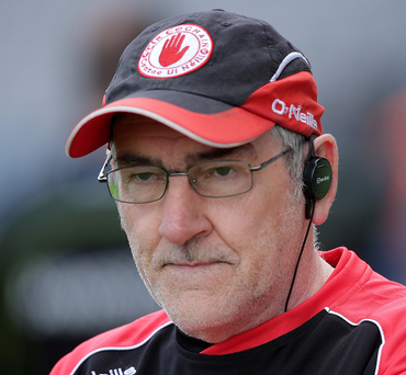 Not happy: Mickey Harte has seen the Red Hands tail off