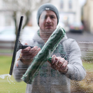 Time for reflection: Liam Watson's window cleaning business takes up a lot of his time, part of the reason why he ended his season with Antrim
