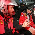 Need for speed: TT winner Lee Johnston joined Craig Breen for a spin over the Circuit test stage