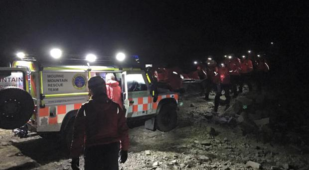 A school girl was taken to hospital following the incident. Pic: Mourne Mountain Rescue Team.