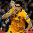 Doubled up: Luis Suarez hails his brace for Barcelona
