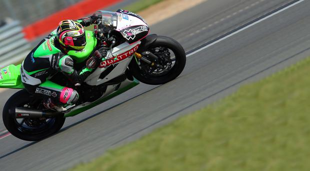 Full steam ahead: Andy Reid wants to follow in the footsteps of Michael Laverty by winning the British Supersport crown