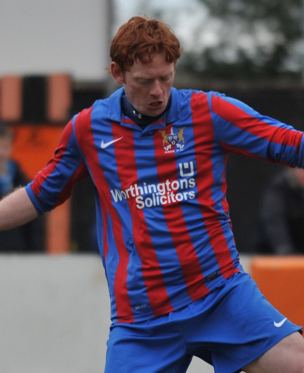 Spot on: Ben Browne hit the winning penalty for Ards