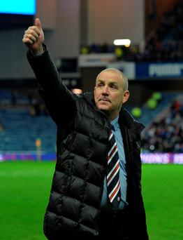 Back again: Mark Warburton has led Rangers into top-flight