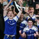 Silver lining: Monaghan skipper Kevin Loughran lifts the Under-21 prize