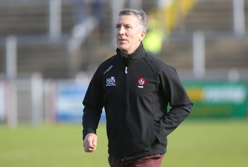 Case for defence: Damien Barton is concerned about Derry's frailties at the back