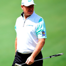 Tough start: Ernie Els during last night's opening round