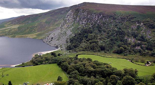 Luggala, Co Wicklow, where the photographs of the mass graves were allegedly taken