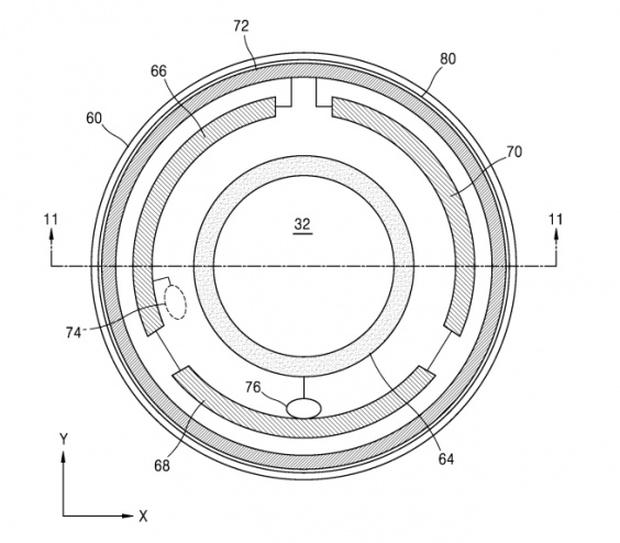 Samsung contact lens: Designs for the contact lenses are included in the patent (Samsung/Korea Intellectual Property Rights Information Service)