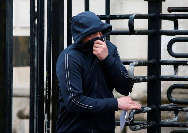 Matthew Brian Gillen outside Londonderry Magistrates' Court, where he is charged with the murder of civil servant Paul McCauley in Londonderry in 2006. Brian Lawless/PA Wire Picture date: Friday April 8, 2016