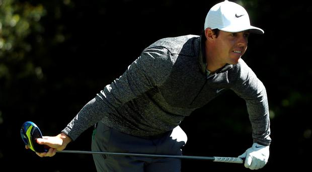 Rory McIlroy of Northern Ireland plays his shot from the second tee during the second round of the 2016 Masters Tournament at Augusta National Golf Club on April 8, 2016 in Augusta, Georgia. (Photo by Andrew Redington/Getty Images)