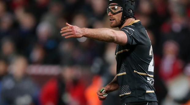 Inspiration: Ian McKinley is trialling protective goggles for World Rugby