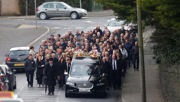 Funeral of Laura Marshall in Lurgan on April 10, 2016 (Photo by Kevin Scott/Presseye)