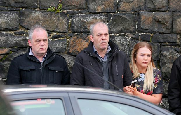 Dissident republican Colin Duffy was among the mourners. (Photo Kevin Scott)