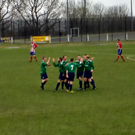 Downpatrick players celebrate during their 3-0 win over Albert Foundry