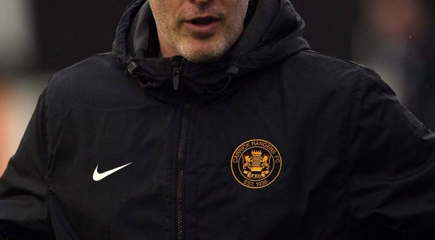 Better side: Carrick Rangers boss Gary Haveron