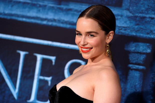 Emilia Clarke attends the season six premiere of
