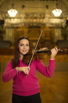 Young violinist Sarah White, from Belfast