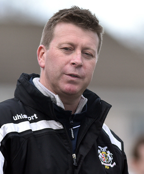 Huge blow: Ports boss Pat McGibbon has now been hit with a transfer ban