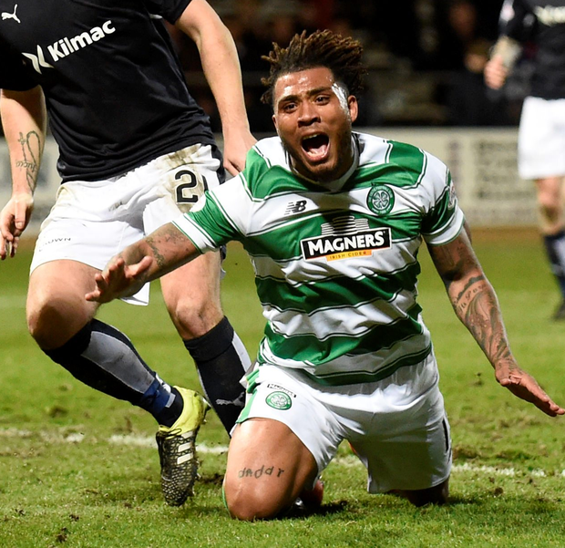 Fiery: Celtic's Colin Kazim-Richards