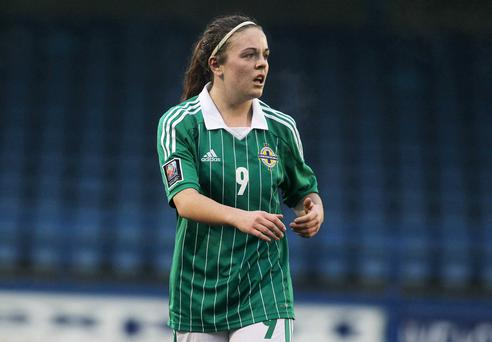 One up: Simone Magill put Northern Ireland in front