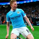 Kevin de Bruyne scored the only goal in Manchester City's second leg win over PSG