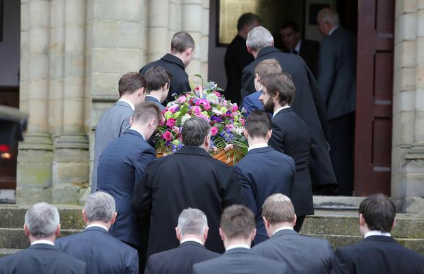 Funeral for hit-and-run victim Lesley-Ann McCarragher at First Presbyterian Church, Armagh. The 19-year-old was jogging near her family home on the Monaghan Road, outside the town, when she was knocked down on Saturday. A 17-year-old male as since been and remains in custody. Picture by Jonathan Porter/PressEye
