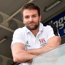 Looking ahead: Jared Payne relaxes at the Kingspan ahead of Ulster's clash with Zebra in Italy on Saturday