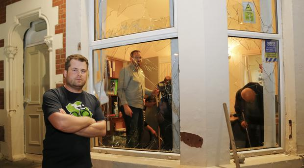 Pictured is the scene at the PIPS charity office on the Antrim Road ( Photo by Kevin Scott / Presseye )