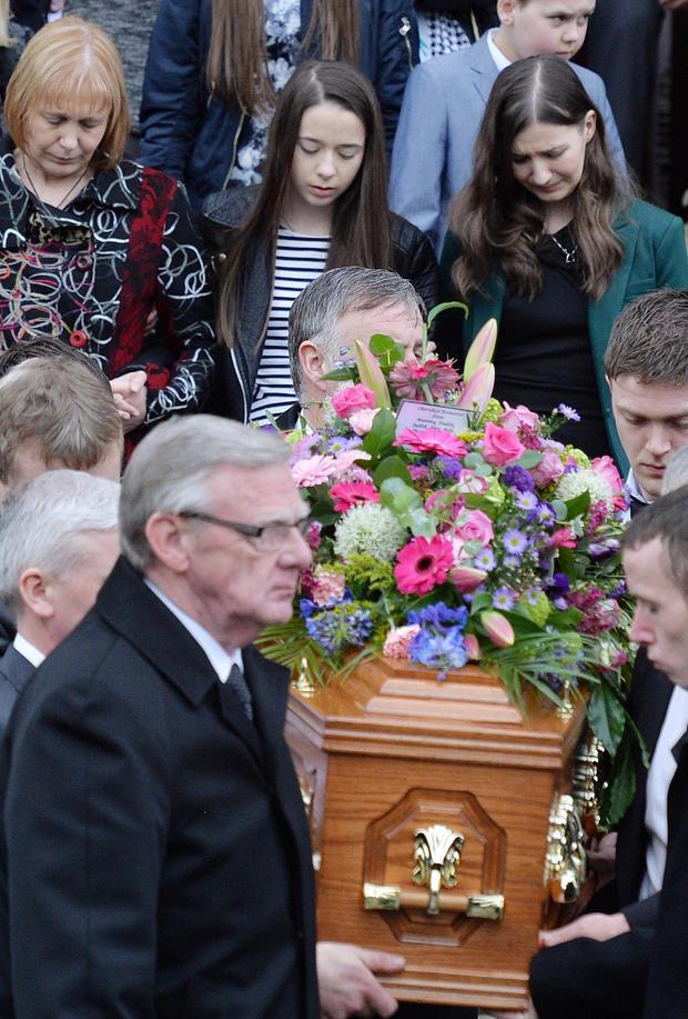 Family and Friends attend the funeral of Lesley-Ann McCarragher, 19, at First Presbyterian Church, Armagh. Pic Jonathan Porter Presseye