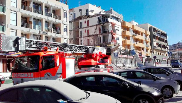 Photo issued by the Canarian Weekly of emergency services at the scene following the collapse of a four-storey building in Los Cristianos, Tenerife. Canarian Weekly/PA Wire